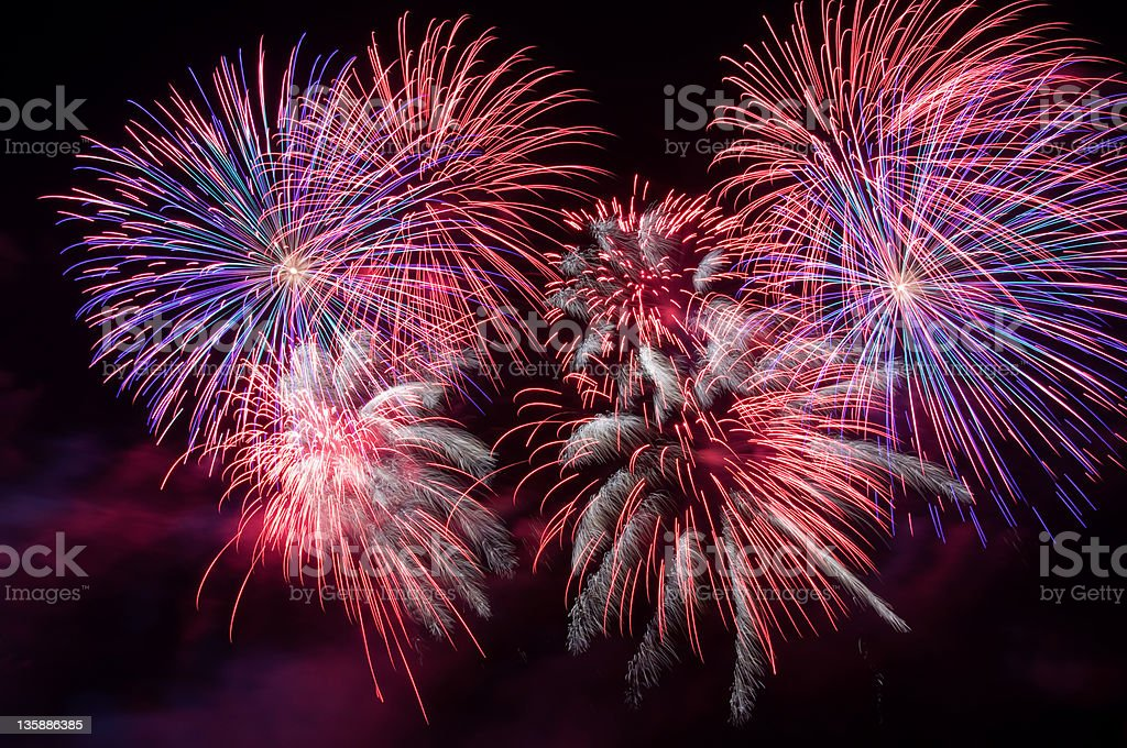 Fireworks display. stock photo