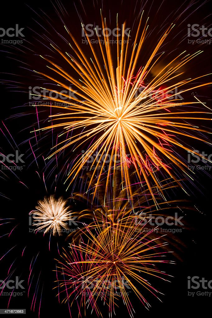 Fuochi d'artificio foto stock royalty-free