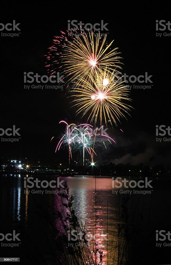 Fireworks display royalty-free stock photo