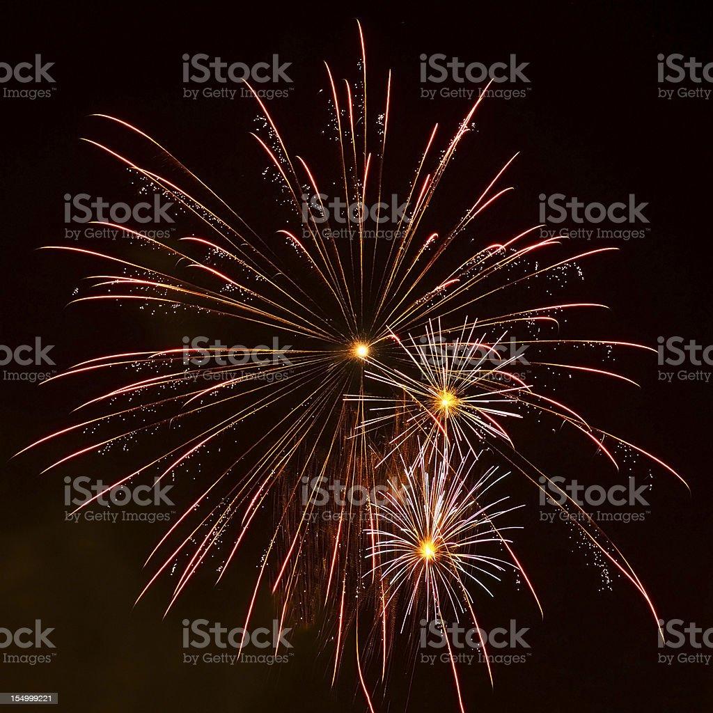 Fireworks Exploding royalty-free stock photo