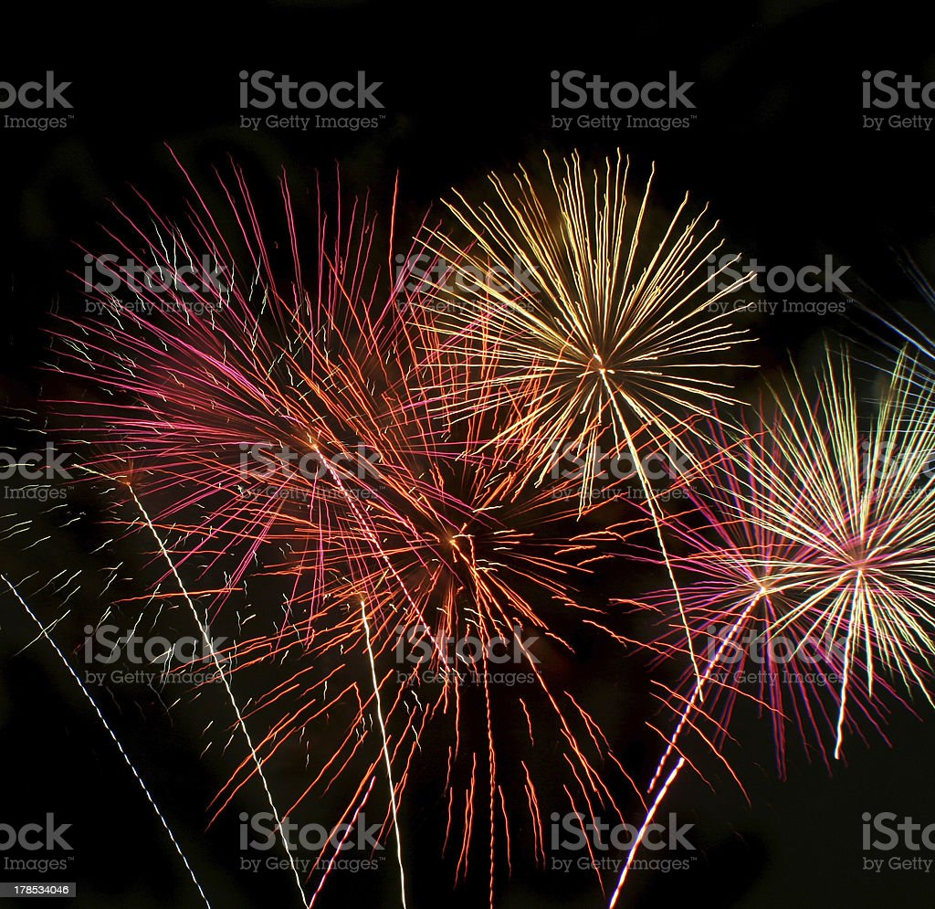 Fireworks Explosion royalty-free stock photo