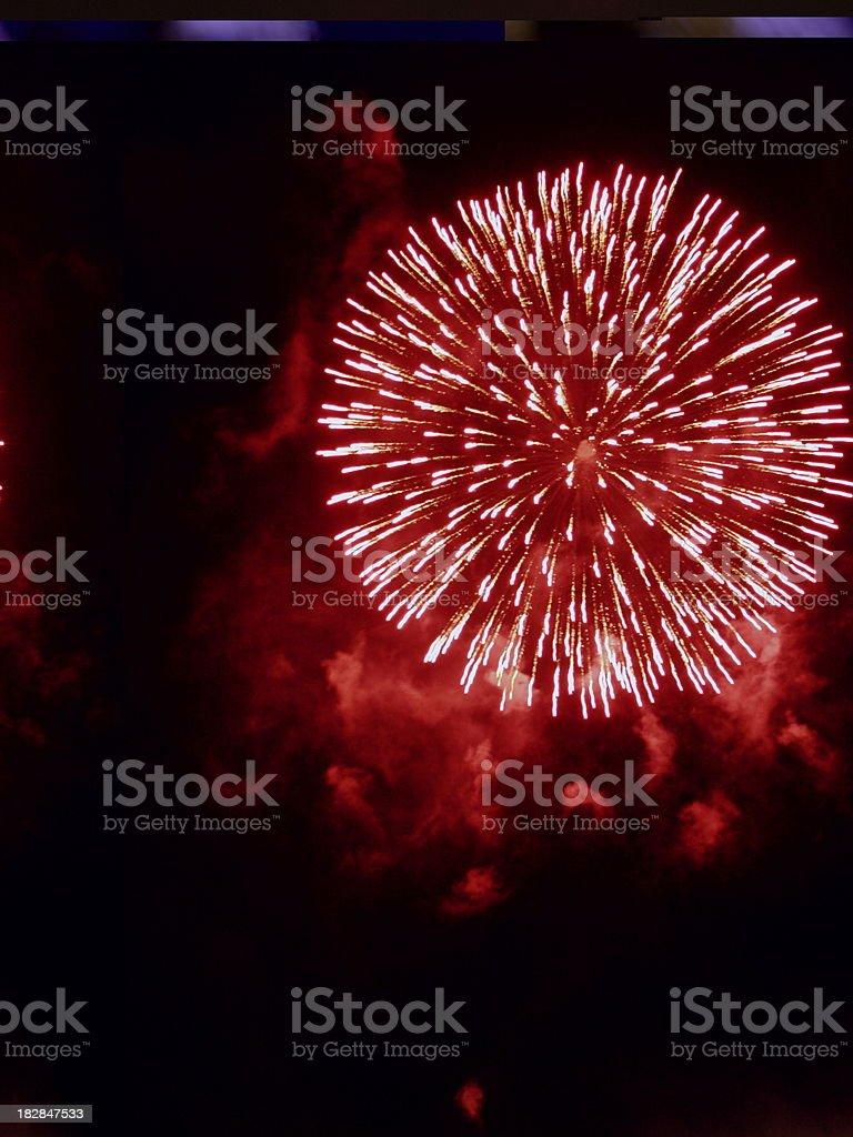 Fireworks Explosion royalty-free stock photo