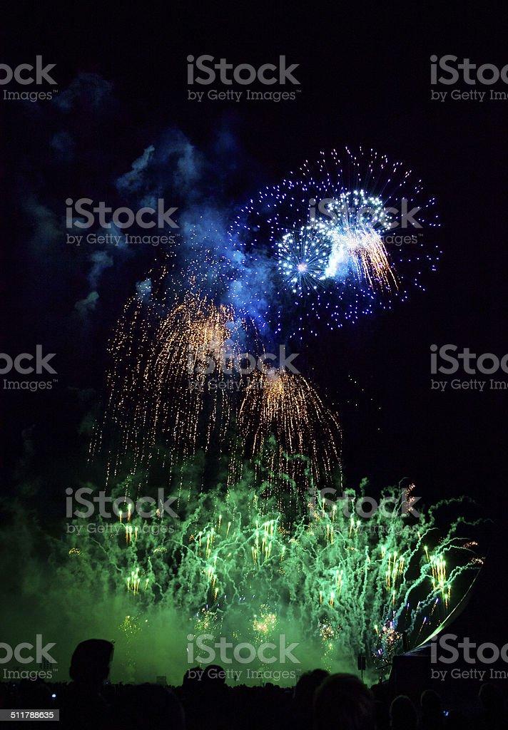 Fireworks explosion stock photo