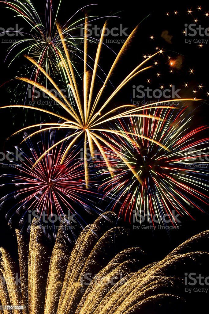 Esibizione di fuochi d'artificio foto stock royalty-free