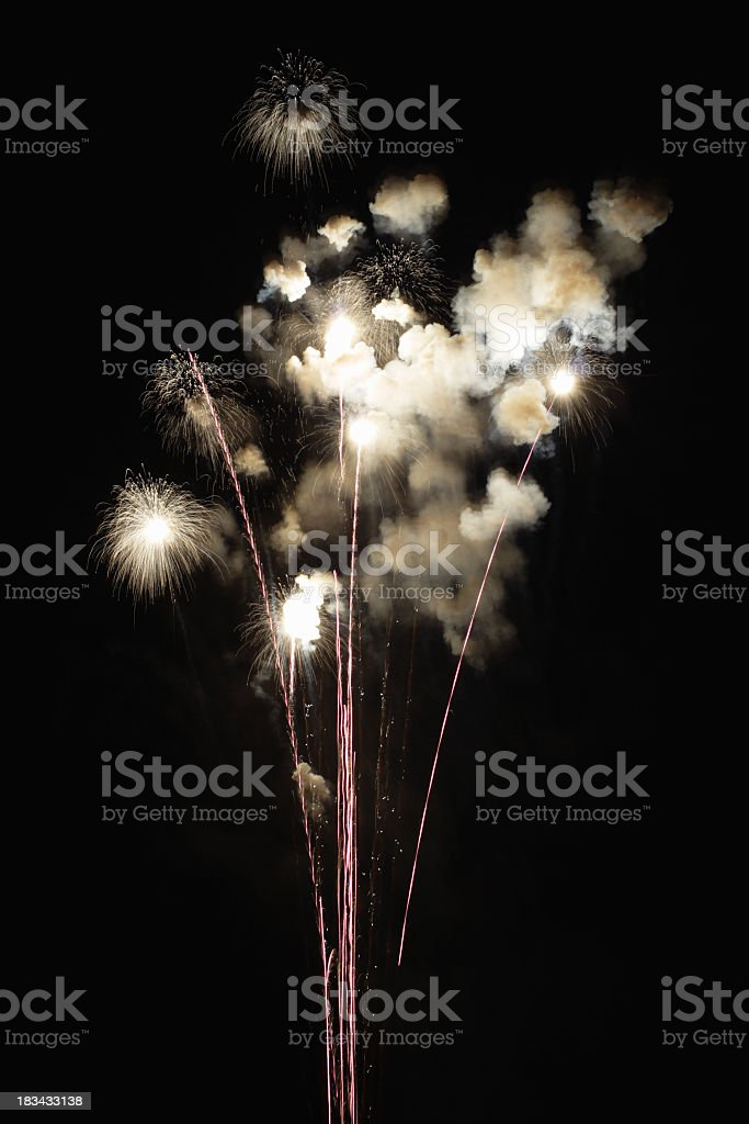 Fireworks Finale Explosions Cracking Like Bombs stock photo