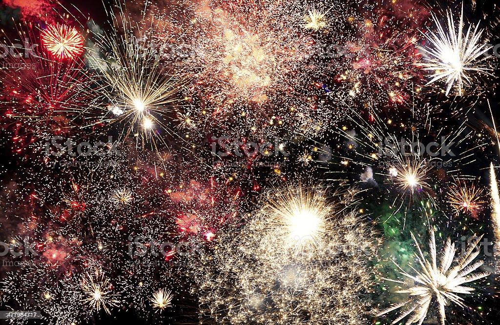 Fireworks fortissimo stock photo