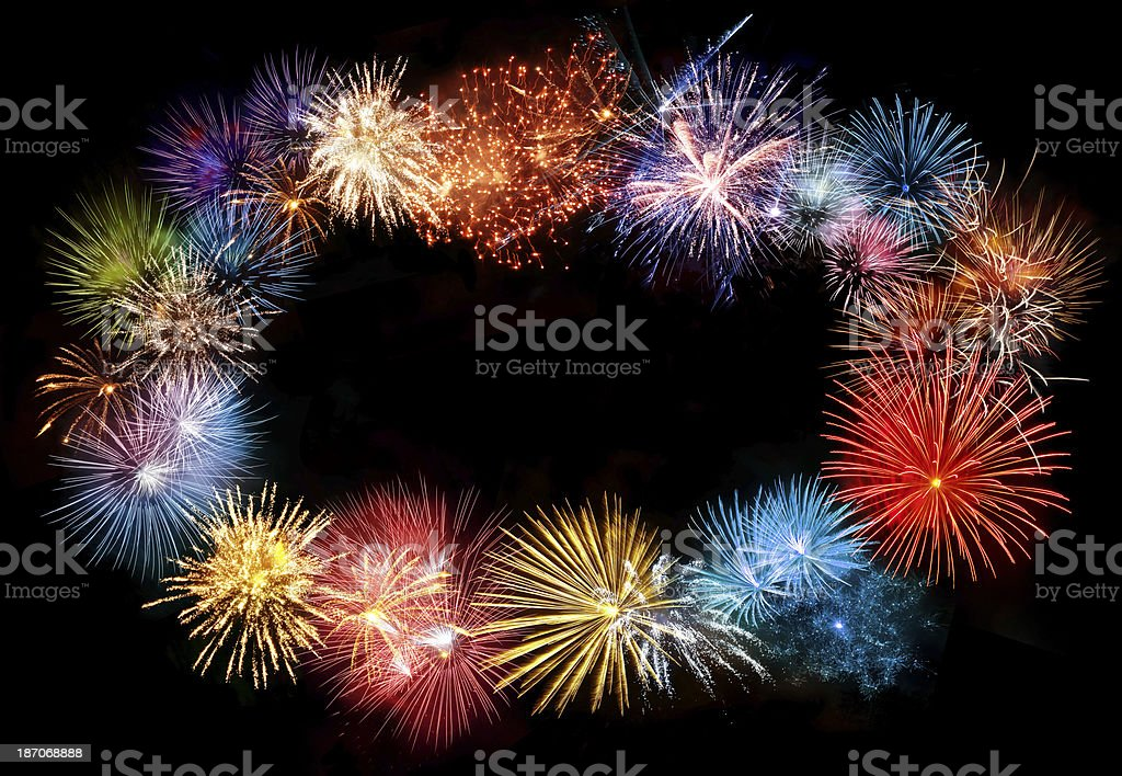 Fireworks Frame royalty-free stock photo