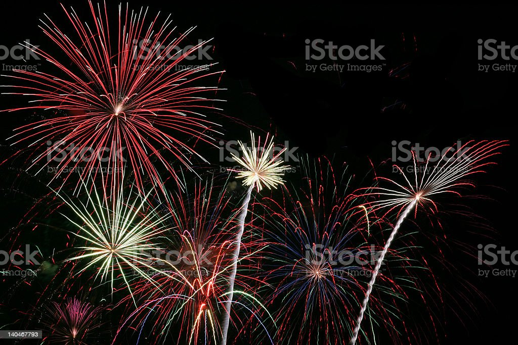Fireworks Grand Finale royalty-free stock photo