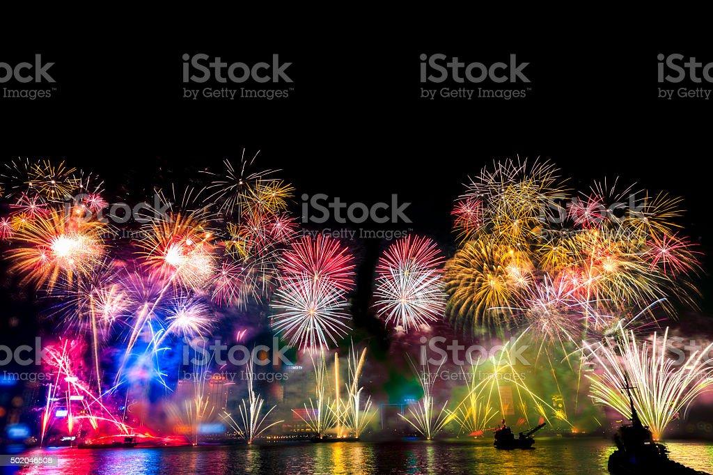 Fireworks Holiday Celebrations stock photo