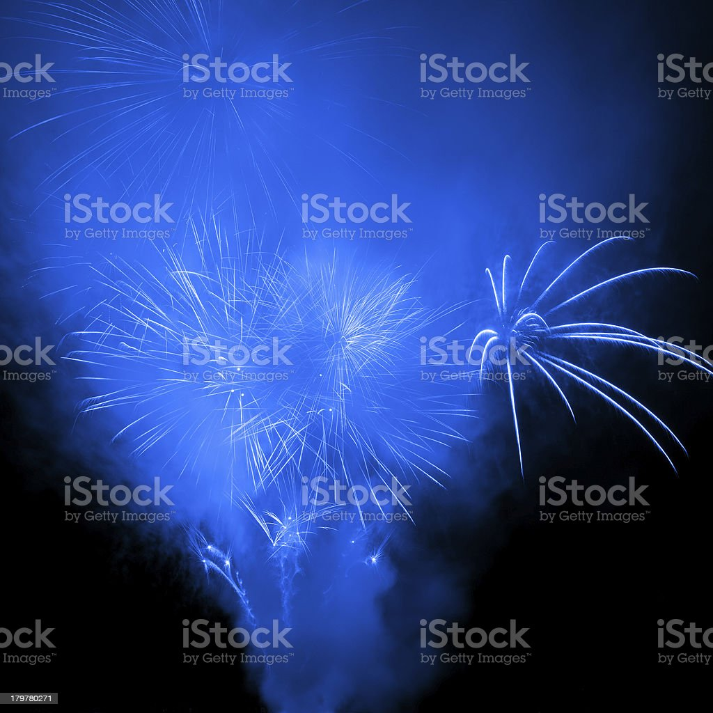 Fireworks in the night sky royalty-free stock photo