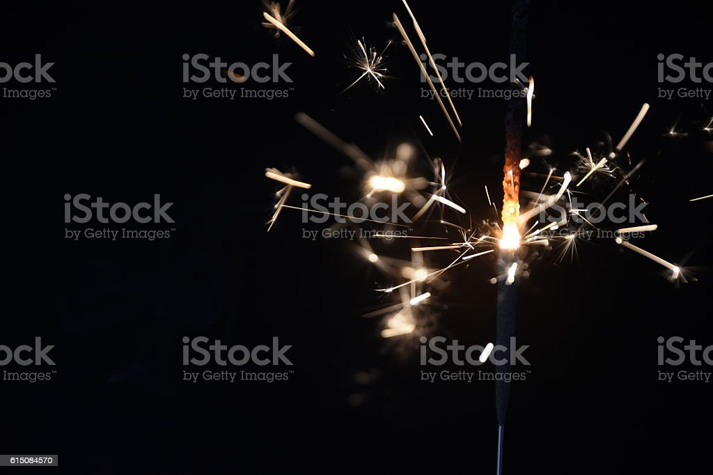 fireworks Isolated on black stock photo