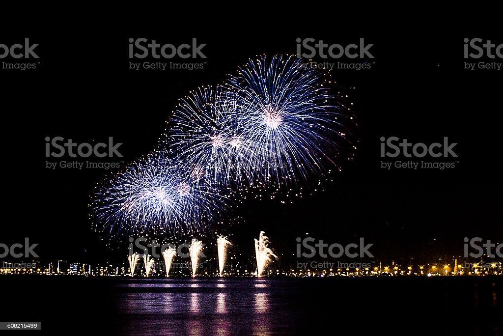Fireworks New Year Florian?polis 2013 stock photo