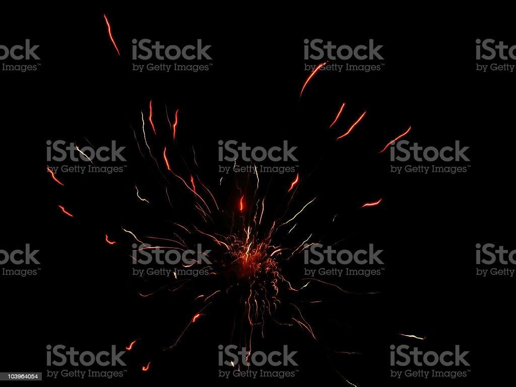 Fireworks on black stock photo