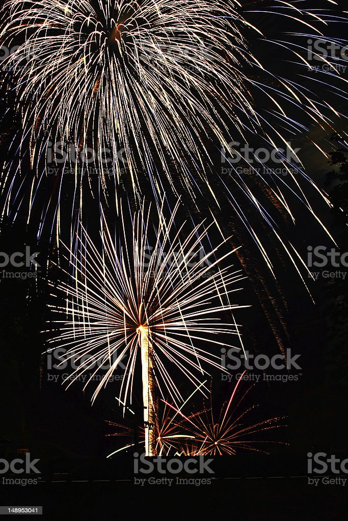 fireworks on fourth of july new years royalty-free stock photo
