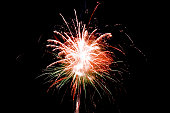 Fireworks on Guy Fawkes night in the UK