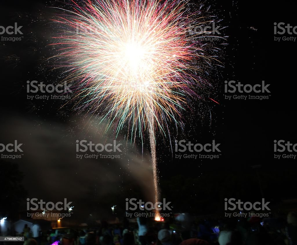 Fireworks on Independance Day stock photo