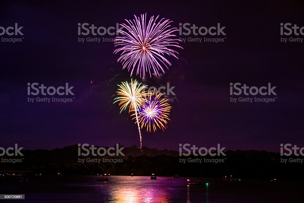 Fireworks on Independence Day stock photo