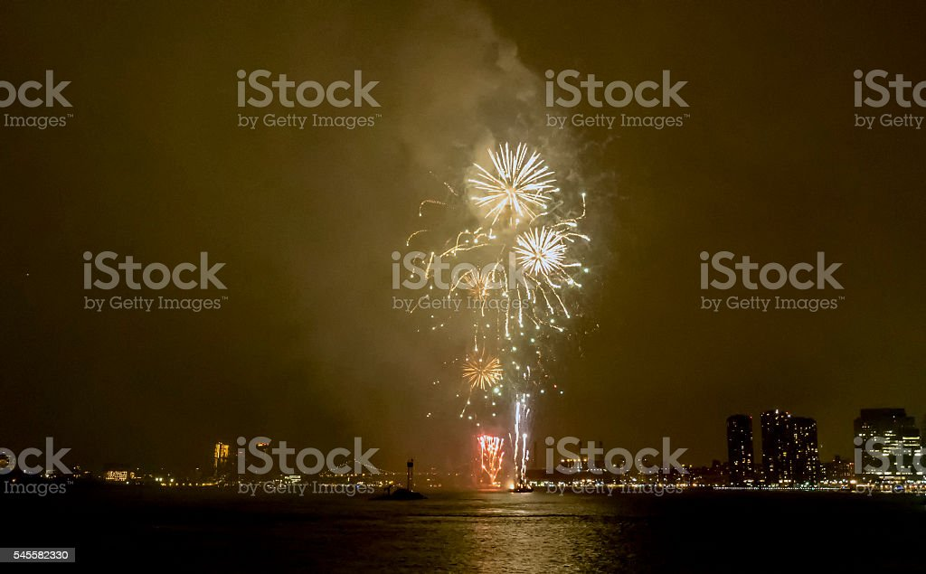 Fireworks on July 4th stock photo