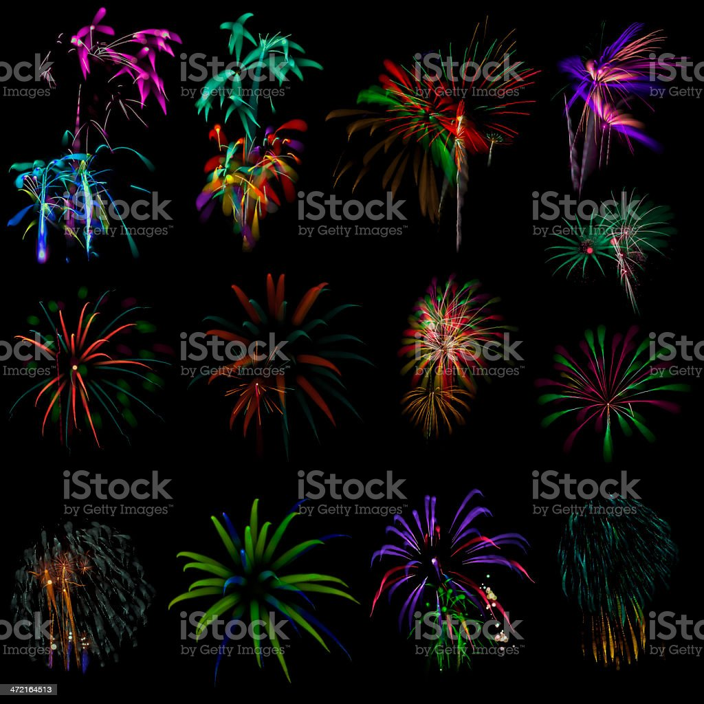 Fireworks out of focus royalty-free stock photo