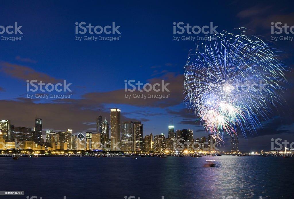 Fireworks Over Chicago stock photo