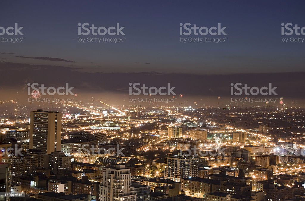 Fireworks Over Chicago royalty-free stock photo