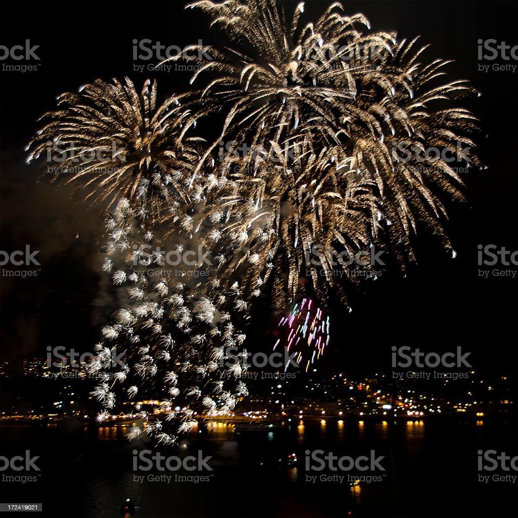 fireworks over Coronado Island royalty-free stock photo