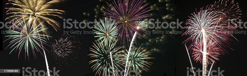 Fireworks - Panorama royalty-free stock photo