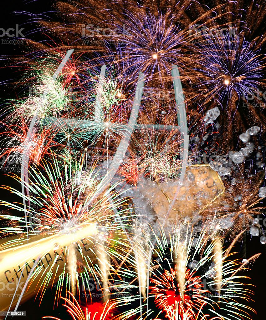 Fireworks party scen royalty-free stock photo
