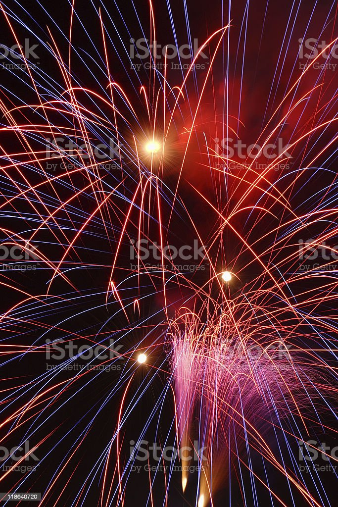 Fuegos artificiales. foto de stock libre de derechos