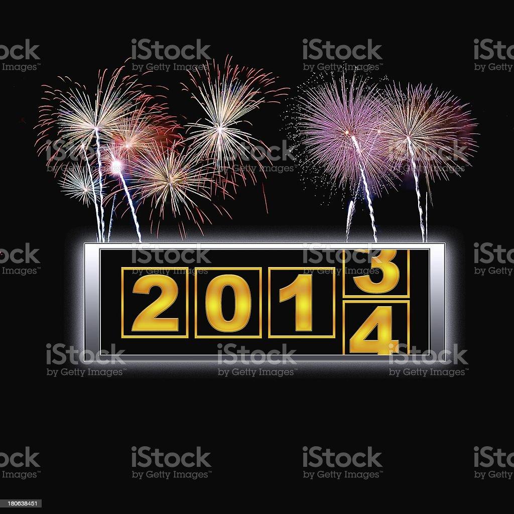 2014 fireworks. stock photo