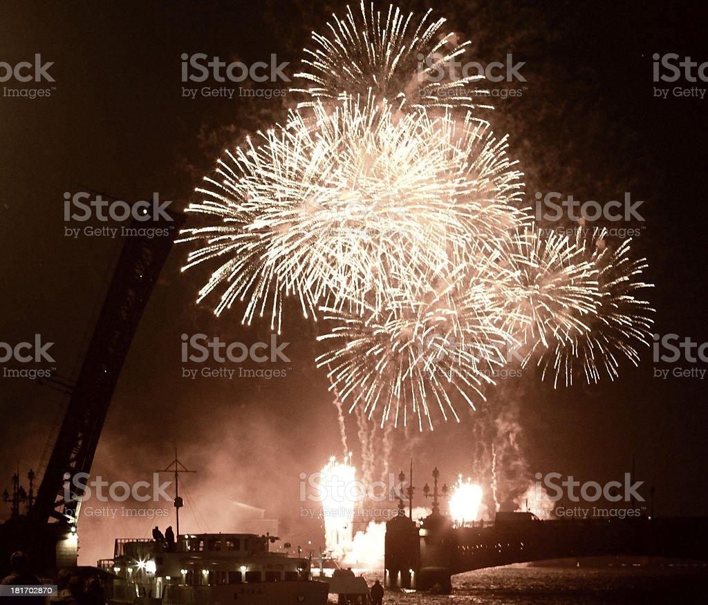 Fireworks. royalty-free stock photo