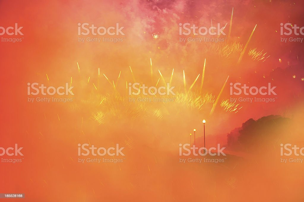 Fireworks. royalty-free stock photo