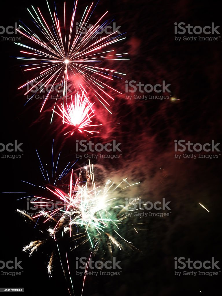 feux d'artifice stock photo