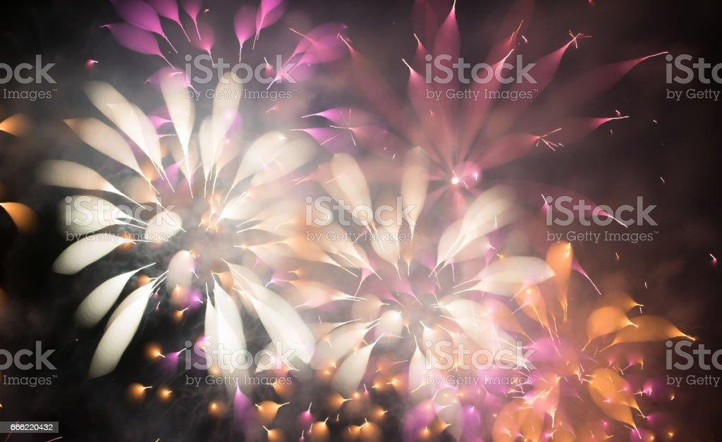 fireworks 花火 stock photo