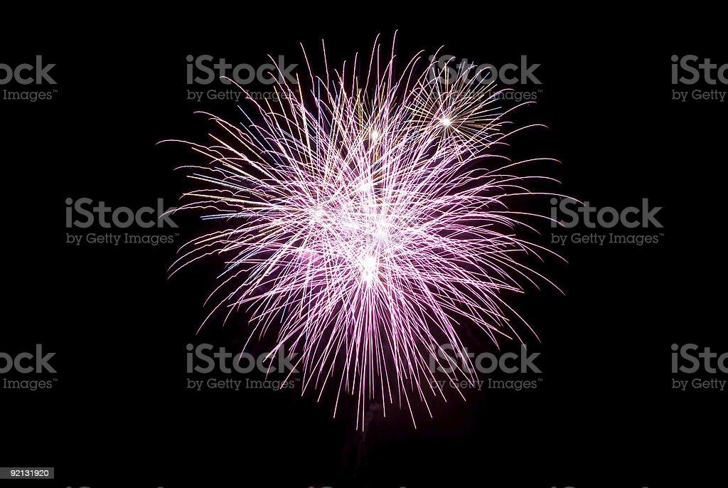 Fireworks - Pink stock photo