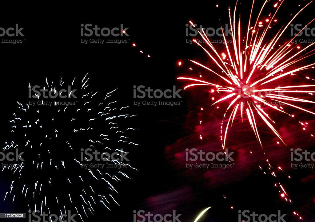 Fireworks red stock photo