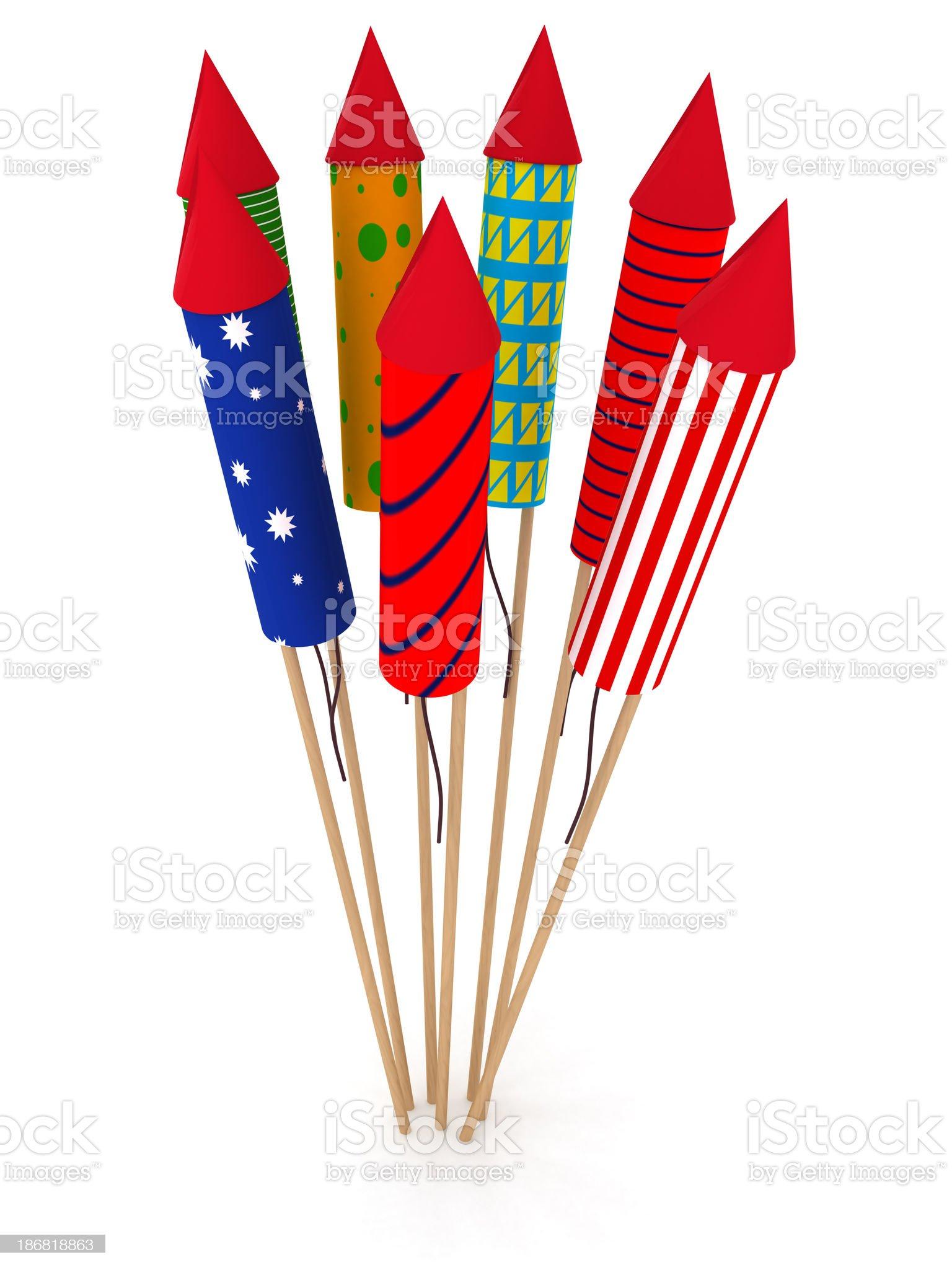 Fireworks rockets royalty-free stock photo