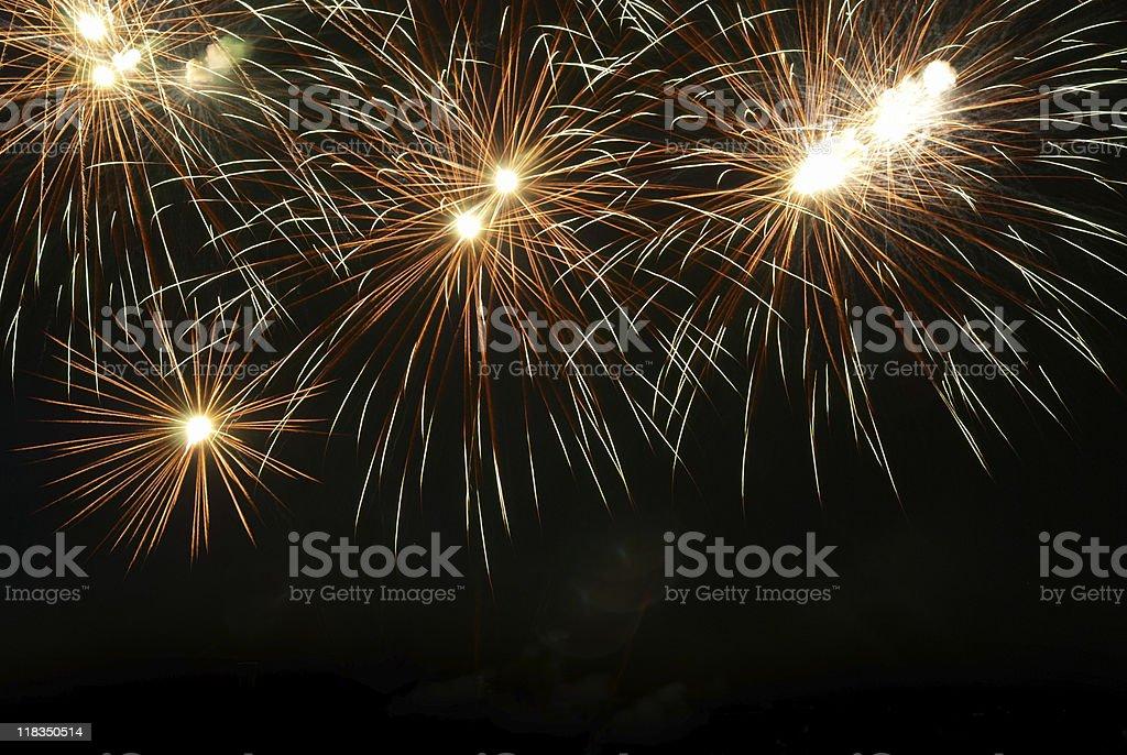 Fireworks, salute. stock photo