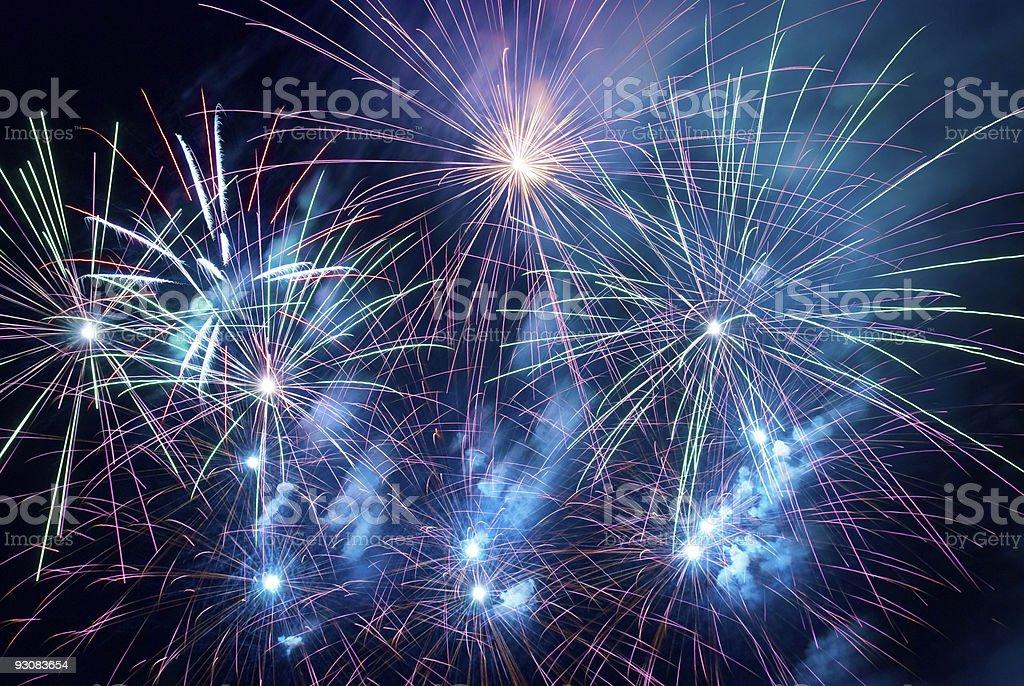 Fireworks, salute. royalty-free stock photo