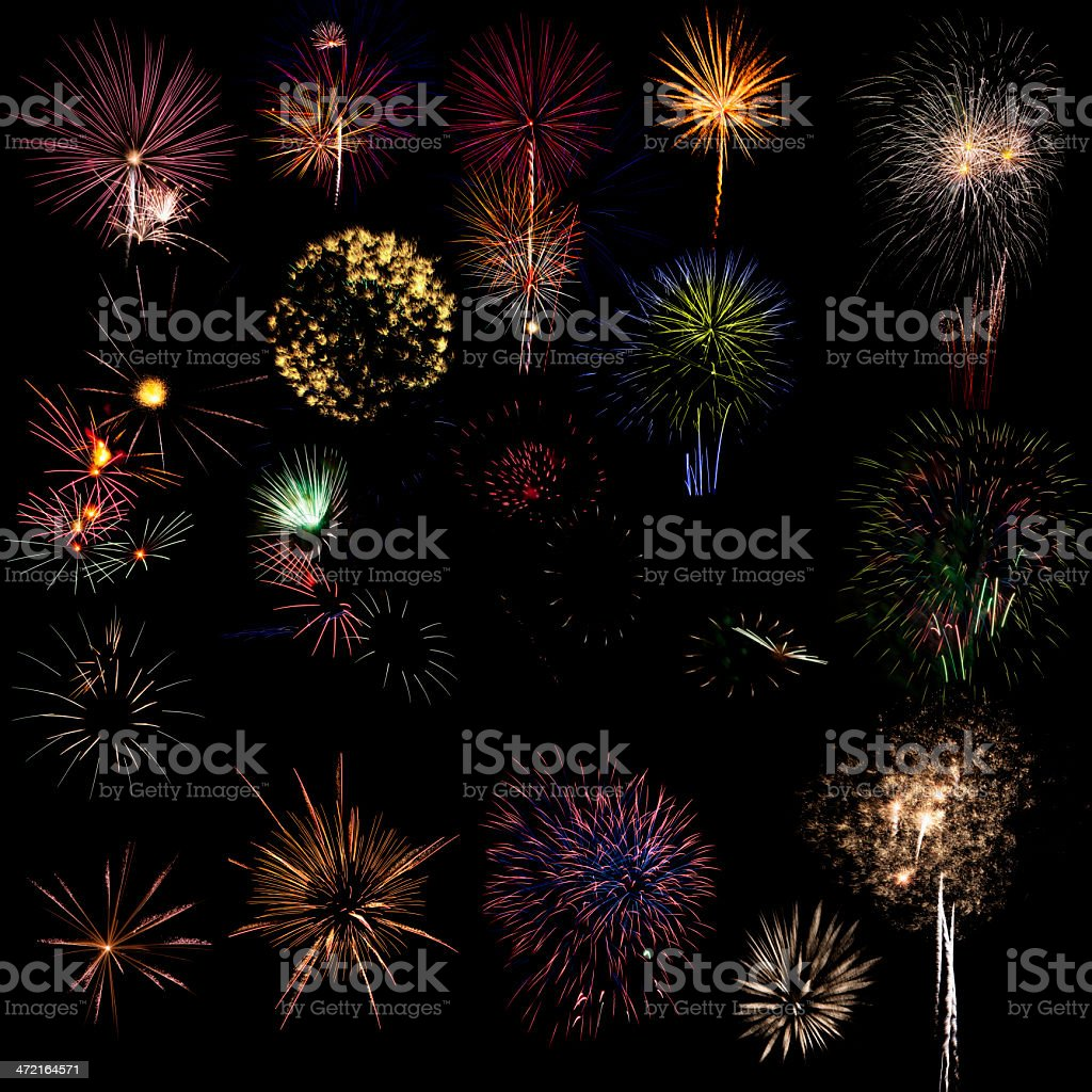 Fireworks samples royalty-free stock photo
