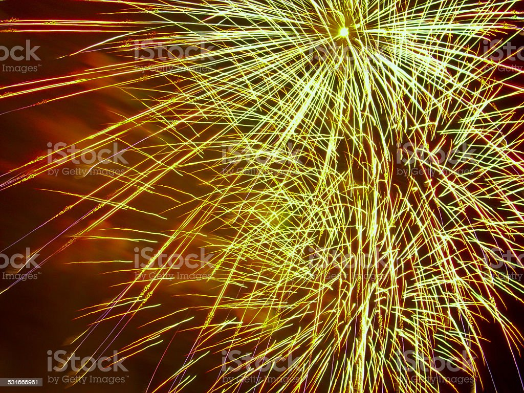 Fireworks show,close up stock photo