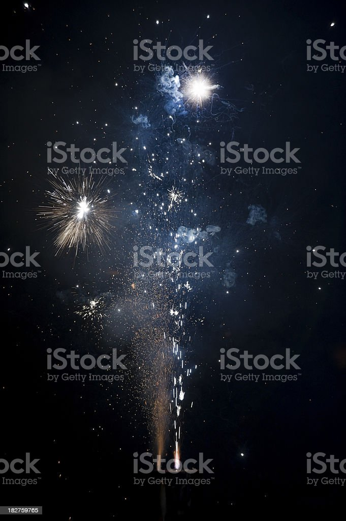 fireworks Silvester new year royalty-free stock photo