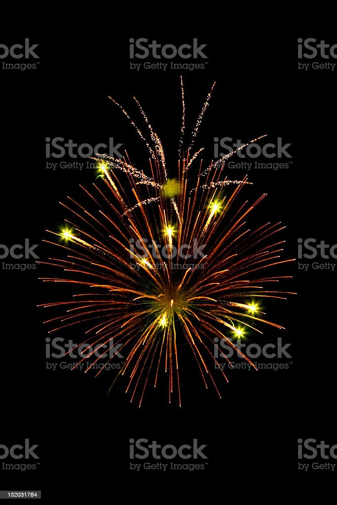 Fireworks Stars royalty-free stock photo