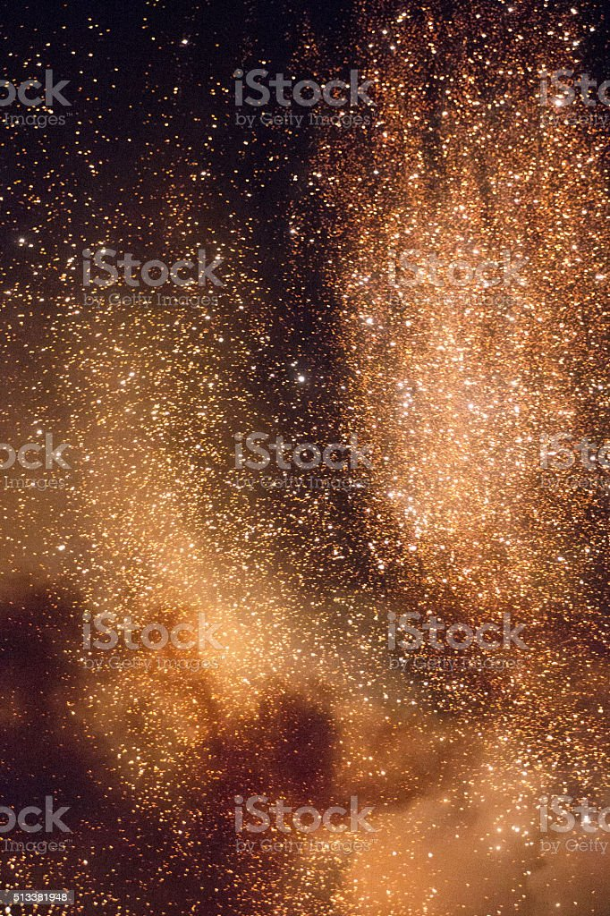 Fireworks stars stock photo