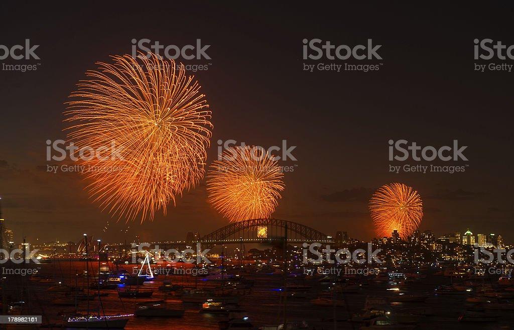 Fireworks Sydney new year eve 2013 royalty-free stock photo