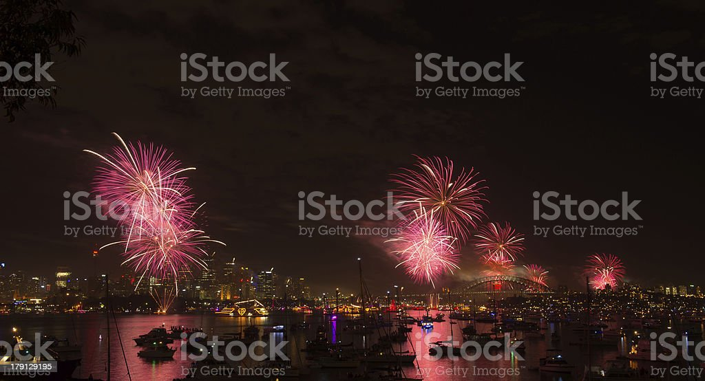 fireworks Sydney new year eve 2013 royalty-free stock photo