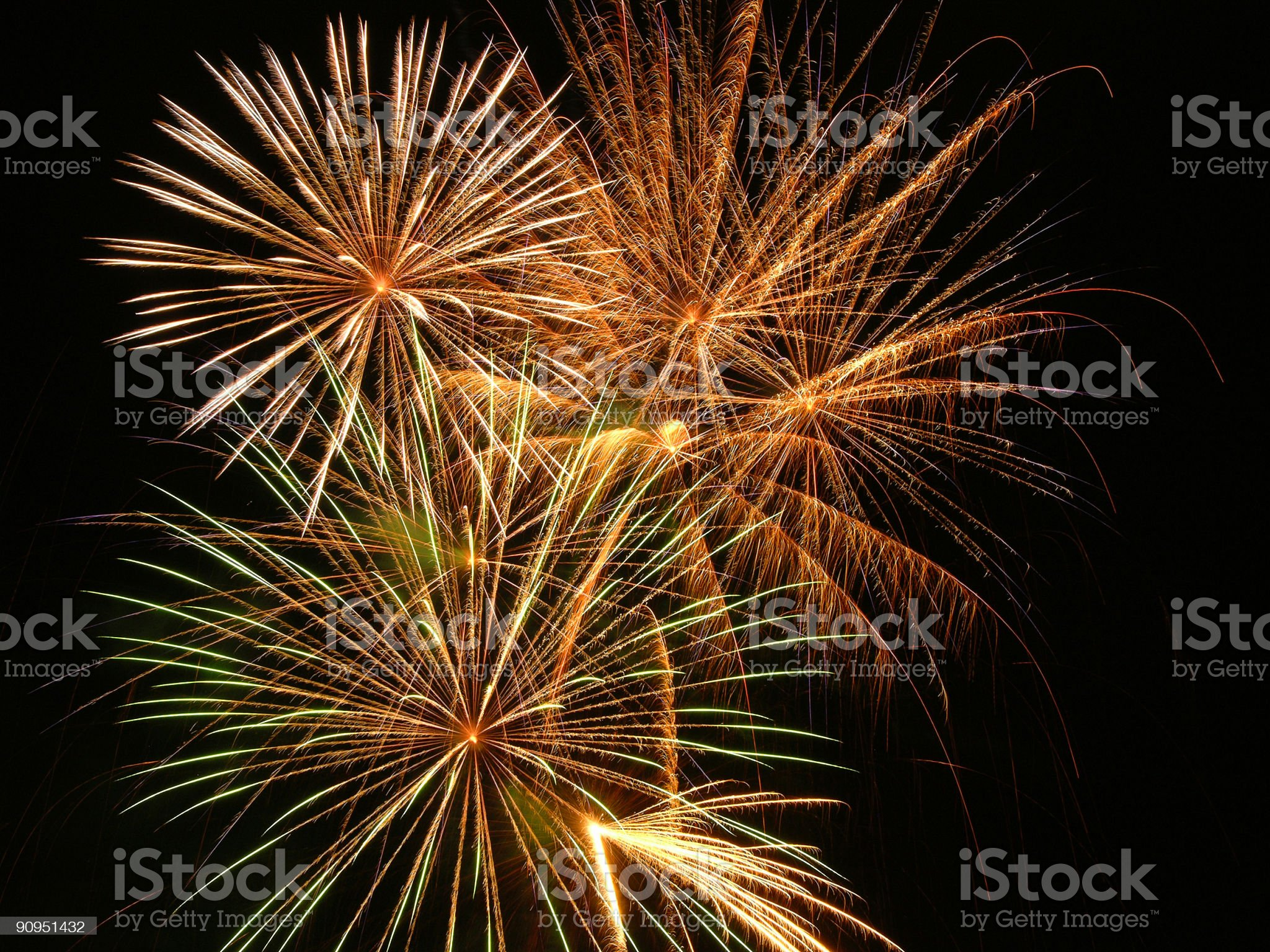 Fireworks two royalty-free stock photo
