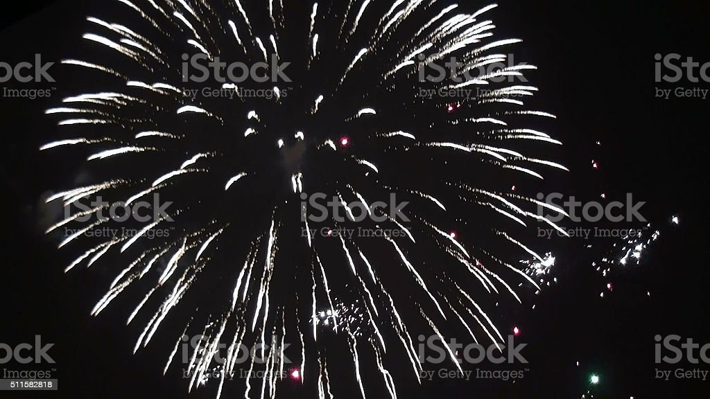 Fireworks View In The Night stock photo