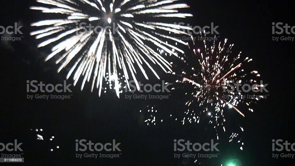 Fireworks View stock photo