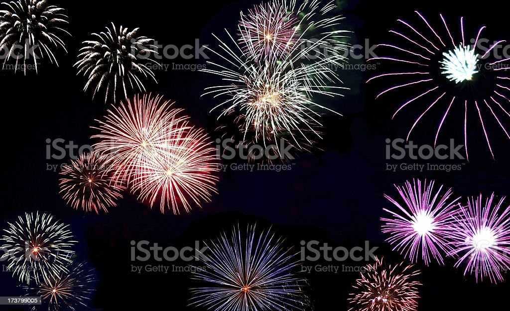 Fireworks Wallpaper royalty-free stock photo